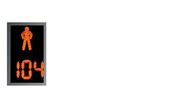 Светофоры пешеходные класса «Престиж» с отсчетом времени на три цифры